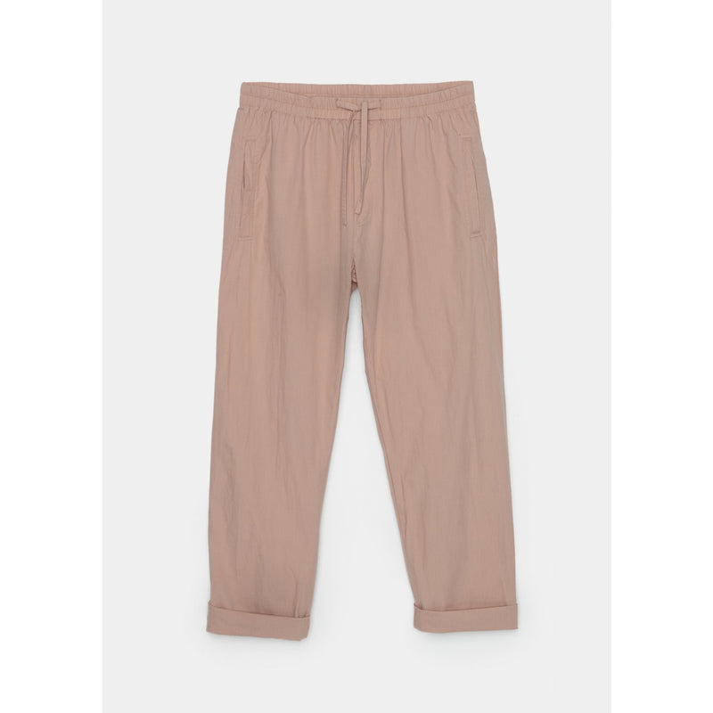 blushed pink organic cotton pants with drawstring by designer aiayu