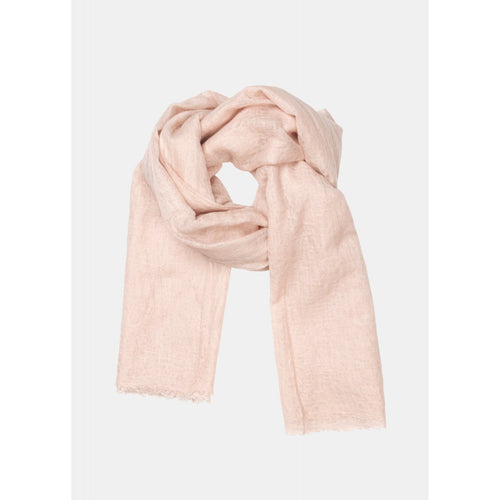 woven cashmere scarf in light pink by designer aiayu