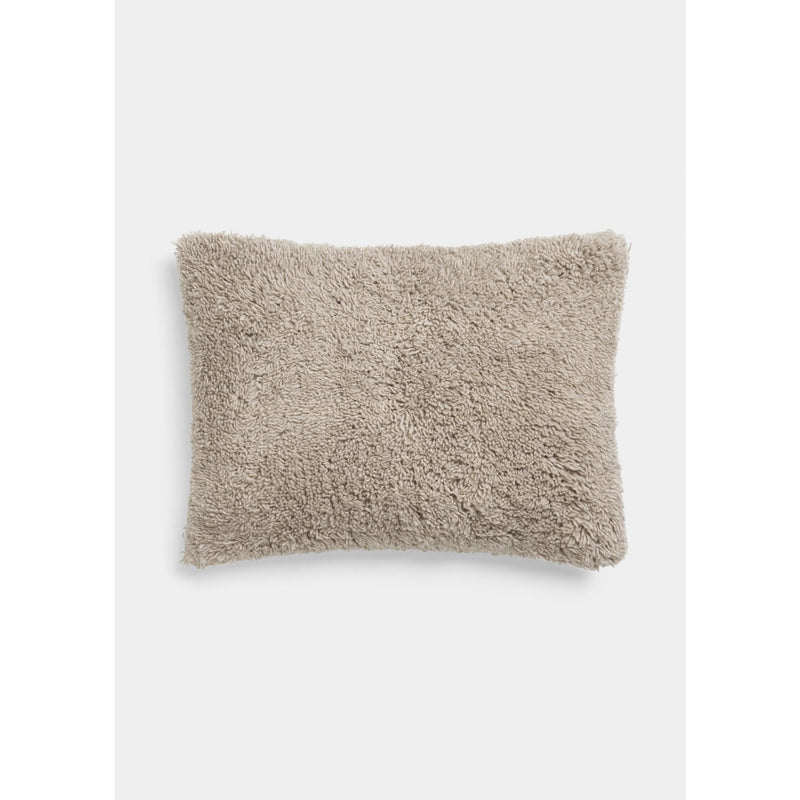small rectangular cashmere pillow in light brown color by designer aiayu