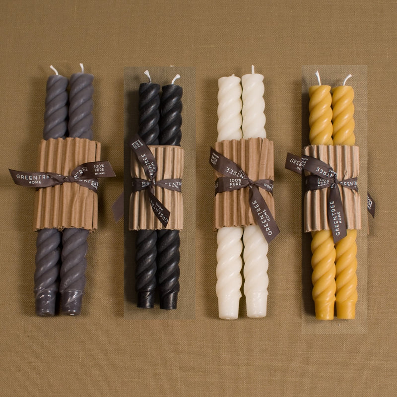 "10"" Rope Taper Candles - set of 2"