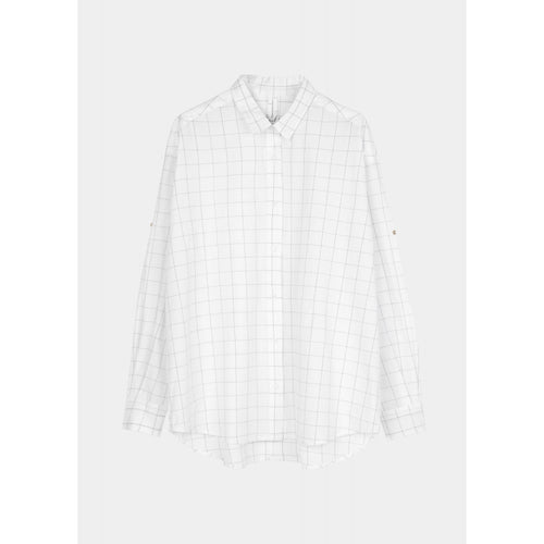 black and white checked button down shirt by designer aiayu