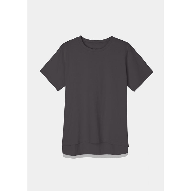 boxy organic cotton dark grey tee by designer aiayu