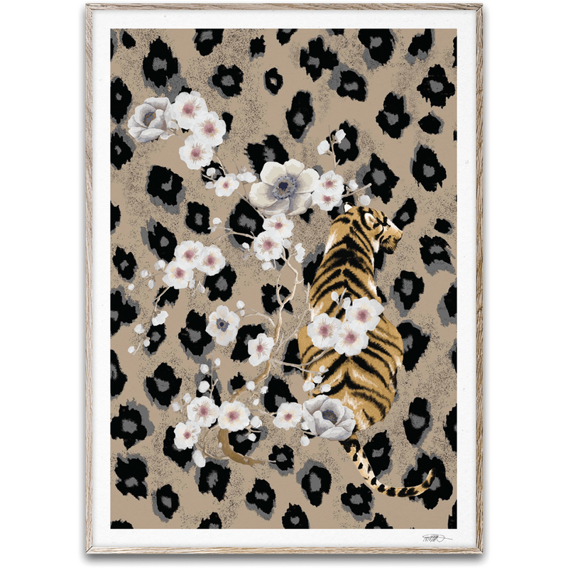 Tiger By Naja Munthe - Black Frame