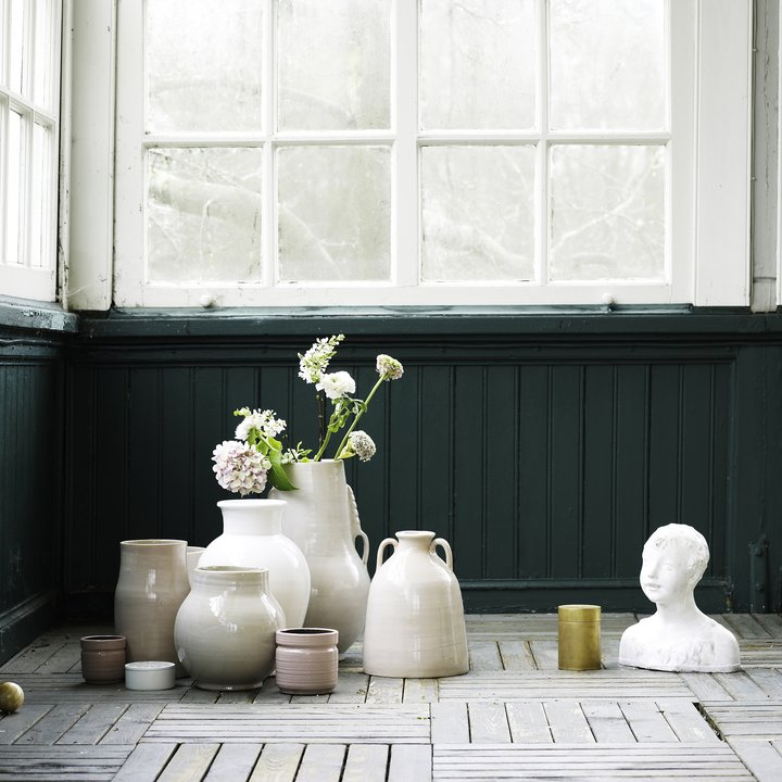 collection of ceramic vases