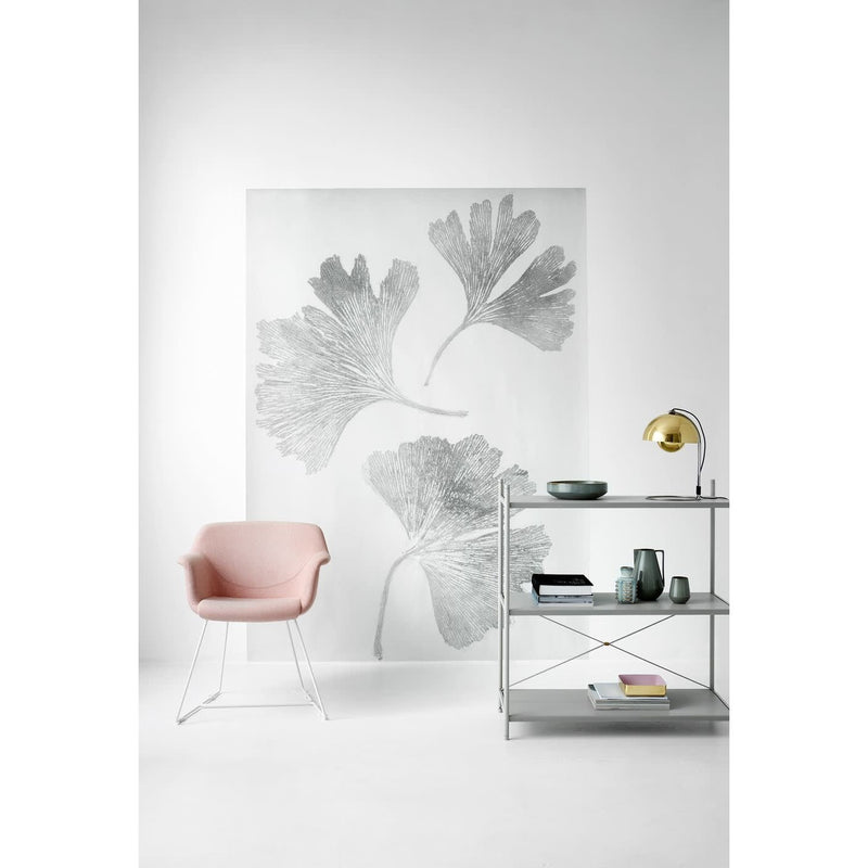 Ginkgo Wallpaper- Grey