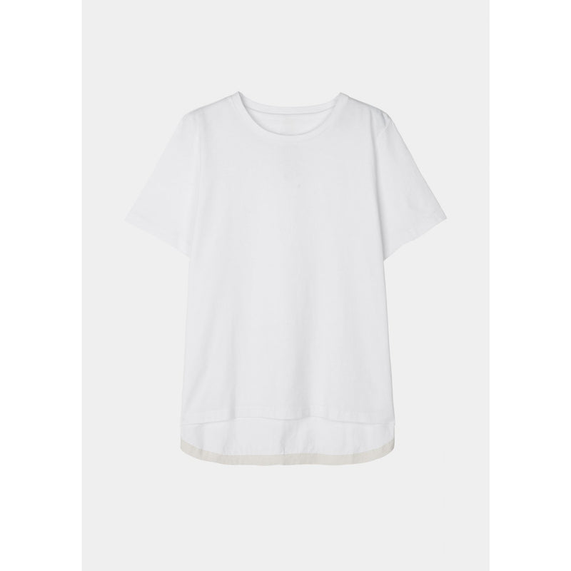 boxy organic cotton white tee by designer aiayu
