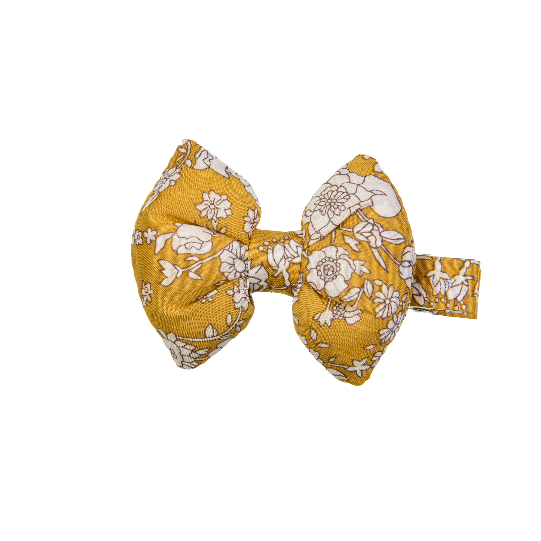 Goldenrod Liberty Bow on Alligator Clip