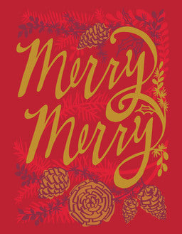 Merry Merry Branches Cards Box of 8