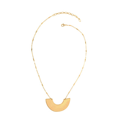 Crescent Necklace in Gold