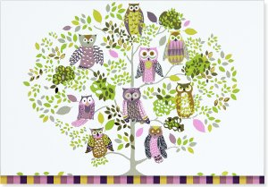 Owl Forest Note Cards Set of 14