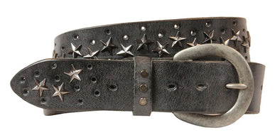 Star Curved Handmade Leather Belt