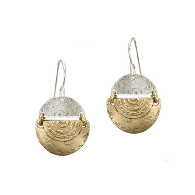 Hinged Semi Circles Wire Earring