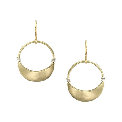 Wire-wrapped Hoop Earrings