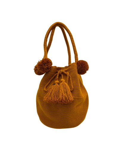 Wayuu Dream Bag- POMPOM BLUE