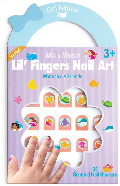 Mix & Match Lil Fingers Nail Art Mermaids Friends