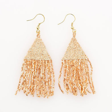 Rose Gold Luxe Petite Fringe Earrings