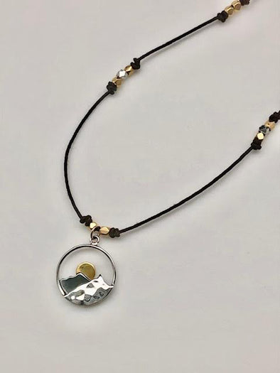Moon & Mountains Necklace