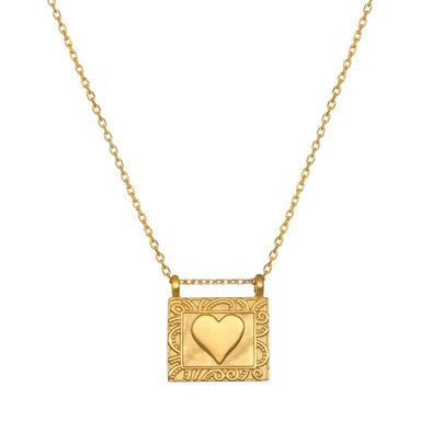 Heart Centered Gold Necklace