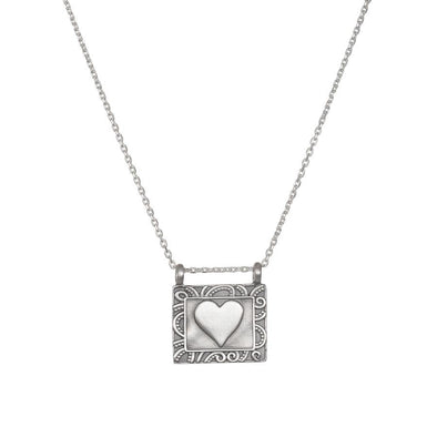 Heart Centered Silver Necklace