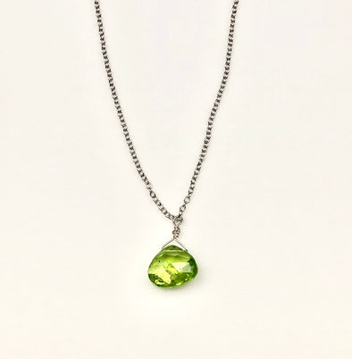 Peridot Drop Necklace