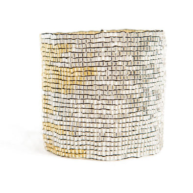 Silver And Gold Stretch Bracelet