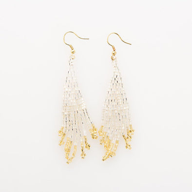 Silver and Gold Small Fringe Earrings