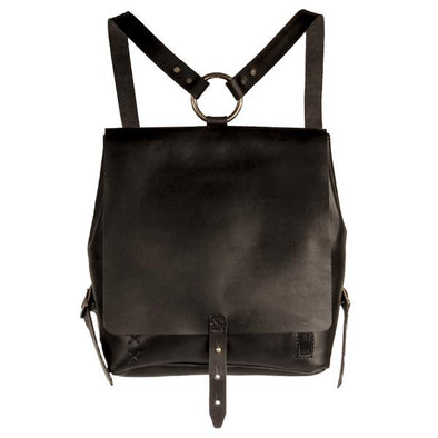 Revival Small Handmade Leather Backpack-Black