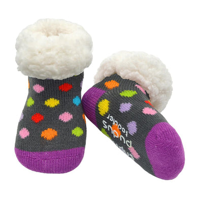 Toddler Classic Slipper Socks in Polka Dot Multi