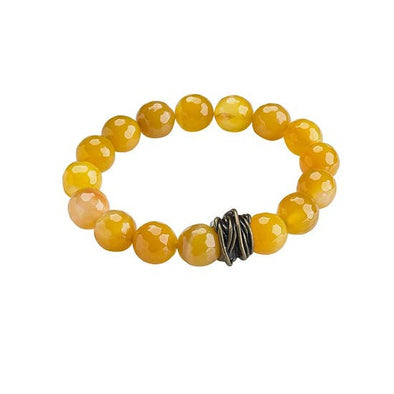 Citrine Agate Stretch Bangle Bracelet