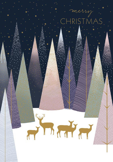 Deer in Forest - Christmas Boxed Cards Set of 8