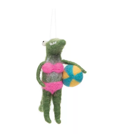 Bikini Alligator Ornament