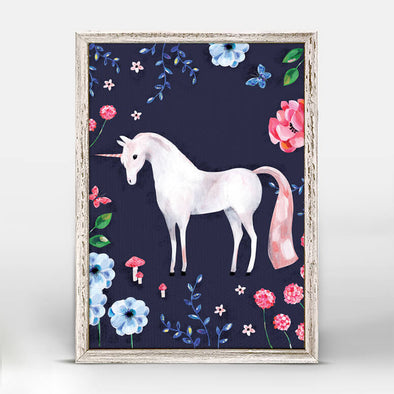 Enchanted Forest Unicorn Mini Framed Canvas 5x7