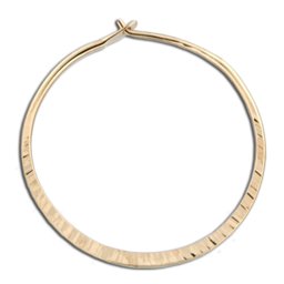 Gold-Filled Cross Peened Round Hoop Earrings