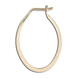 Gold-Filled Flattened Oval Hoop Earrings