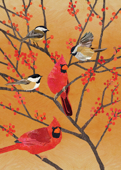 Chickadees and Cardinals Box of 10