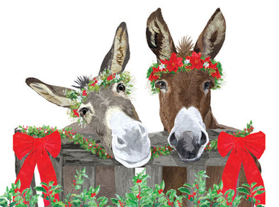 Donkey Christmas Box of 10