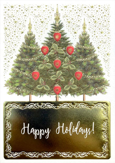 Three Trees - Holiday Boxed Cards Set of 8