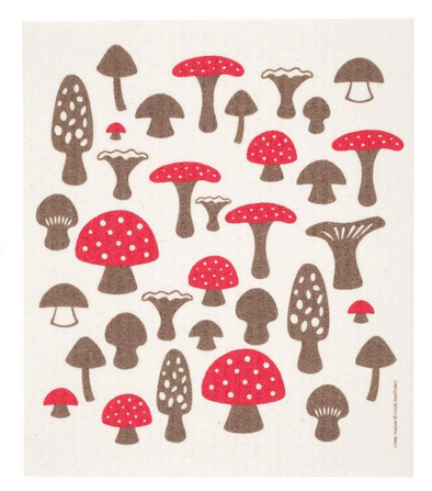 Mushrooms Swedish Dishcloth