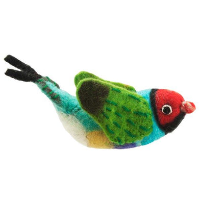 Rainbow Finch Bird Ornament