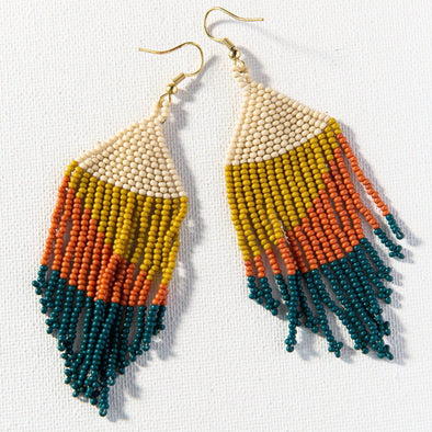 Peacock Ombre Seed Bead Earring