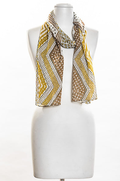 Chevron Scarf in Mustard