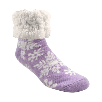 Classic Slipper Sock in Snowflake