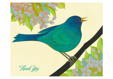 Siri Schillios: The Blue Bird of Happiness Boxed Thank You Notes Set of 10