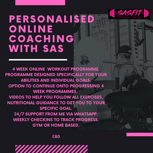 ONLINE PERSONALISED TRAINING PROGRAMME