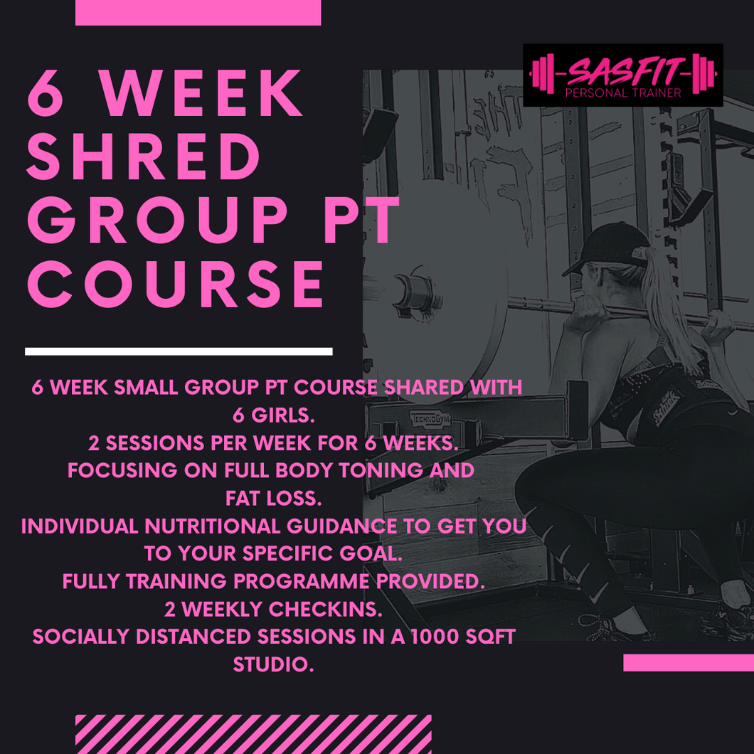 6 WEEK SHRED GROUP PT COURSE