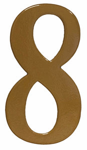 Fancy gold reflective house number 8
