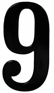 Fancy Black Reflective House Numbers