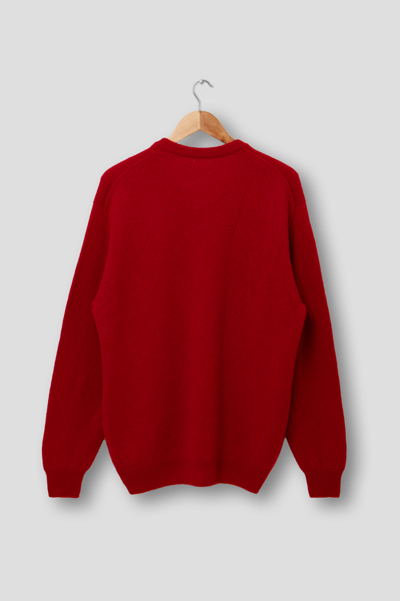 Mens Cashmere Vee Neck Jumper