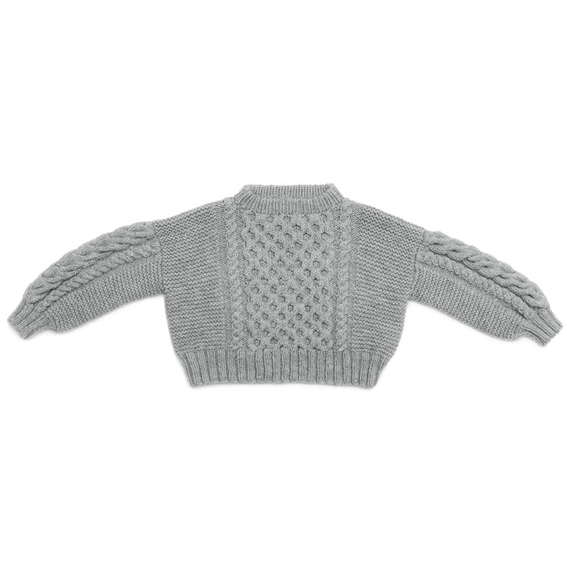 Cropped Aran Jumper (Hand Knitted)