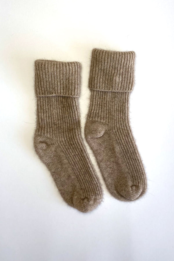 Rib Socks in Possum Merino